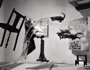 Never mind this Dali Atomicus.  Later flying watering surrealist fixation ugly.