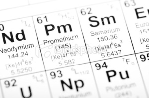 stock-photo-14308332-periodic-table-element-promethium