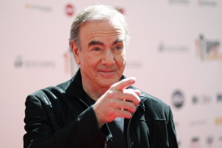 "Singer Neil Diamond poses at the ""Stand Up To Cancer"" television event in Culver City, California"