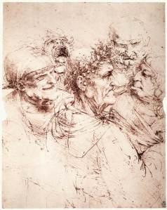 Leonardo_da_vinci_Study_of_five_grotesque_heads