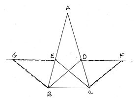 given equal angle bisectors TO PROVE triangle ABC is isoceles