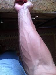 I like to imagine my veins are like bolts of lightning running down my forearm