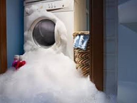 Ok this is NOT my washer but if you WERE to put dish soap into your washing machine this would happen