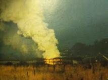 Portishead White phosphorus fire