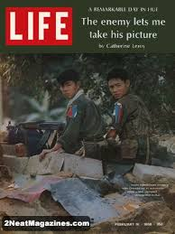 Life Magazine February 16, 1968 Cover - North Vietnamese soldiers with Chinese AK47 automatic rifles guard captured strongpoint in Hue