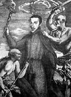 Engraving showing the death of Padre San Vitores, the first missionary to Guam