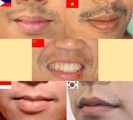 Mr Vietnam and Phillippines are both sporting noticeable facial hair, their lip manes even and balanced. Mr. China is a little ...