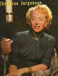 Jorgensen on the cover of Christine Jorgensen Reveals, her only interview released (1958) that was released as an album.