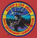 DEA DRUG ENFORCEMENT ADMINISTRATION ECSTACY & CLUB DRUGS SHOULDER PATCH
