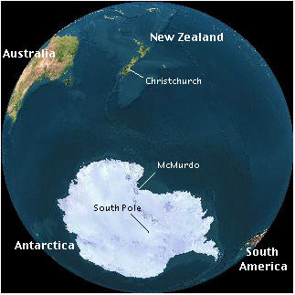 (To just get to Antarctica, of course, you need not go through New Zealand, but to get to the South Pole, most people do go through NZ.)