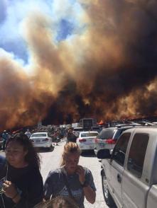 incred photo of california's freak freeway fire