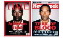 OJ-Time-Cover-GQ_17Feb15 Time magazine infamously darkened OJ Simpson's mug shot to make the disgraced NFL star appear 'blacker'. Unfortunately Newsweek ran the same image, ...
