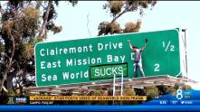 SAN DIEGO (CBS 8) – It's now known who was responsible for a stunt that changed a freeway sign along interstate five into an anti-SeaWorld message.