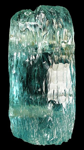 -Beryl- a water etched crystal of aquamarine