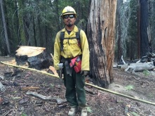 Edwin Diaz, a firefighter for a SequoiaKingsNPS crew, says protecting these giant sequoias is personal