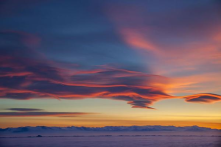Lenticular clouds over the sea ice in