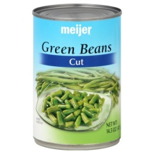 Meijer Green Beans Cut - 1 Can (14.5 oz)