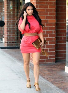 kim-kardashian-pink-dress-frank-Avoid short skirts ...afraid of darts, see