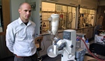 Seth Herzon in his lab, where he conducts extensive research on natural products synthesis and it is Yale.