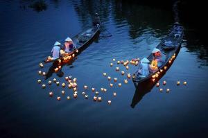 target floating lights in Vietnam