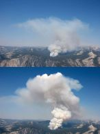 tenaya fire at yosemite nine-eleven. almost extablished a 'nother area, no willin' out fourbies.