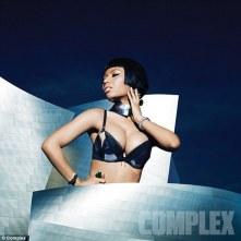 Nicki Minaj strips down to her bra for Complex Magazine ad