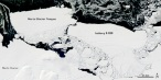 B09B-iceberg-The outlook for the Cape Denison Adelie penguins remains dire. Unless the colossal iceberg is broken up by sea ice, scientists predict the colony will ...