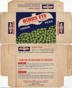 1960s Birds Eye Frozen Peas Box - New Zealand - in the pocket