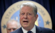 Former U.S. Vice President Al Gore speaks at a news conference with a gathering of U.S. State Attorney's General to announce a state-based effort to combat climate change in the Manhattan borough of New York City, March 29, 2016. REUTERS/Mike Segar