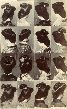 Geiko 1910, Geisha Hairstyles, Hair Style, Multi View, Hairstyles Worn, Hairstyles 1910S