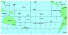 Sea-maps-series-South-Pacific-Ocean-Stock-Photo