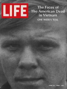 6-27-69 1969 June 27 LIFE Magazine - Faces American Dead - Vietnam