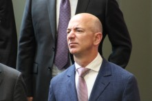Amazon CEO Jeff Bezos in a file photo, which approximates his reaction to Donald Trump.